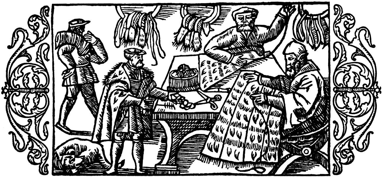 Olaus Magnus Historia om de nordiska folken. Bok 6 - Kapitel 20 - Om skinnare och olika slags skinn. - Utgivningsår 1555.